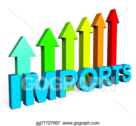 Imports clipart clip art library Stock Illustrations - Imports increasing shows buy abroad and ... clip art library