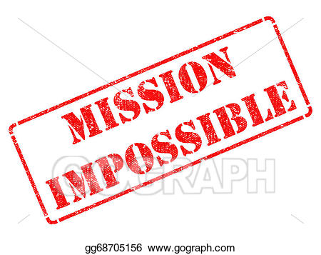 Mission impossible clipart clip library library Clipart - Mission impossible - red rubber stamp. Stock Illustration ... clip library library