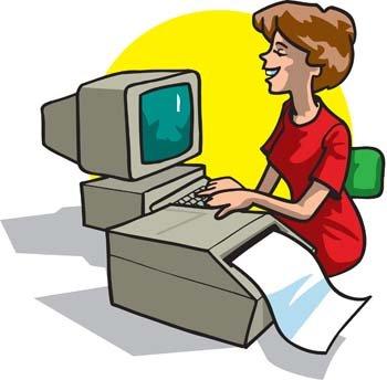 Imprimir clipart vector royalty free download Imágenes clip art y gráficos vectoriales Mujer oficina imprimir su ... vector royalty free download