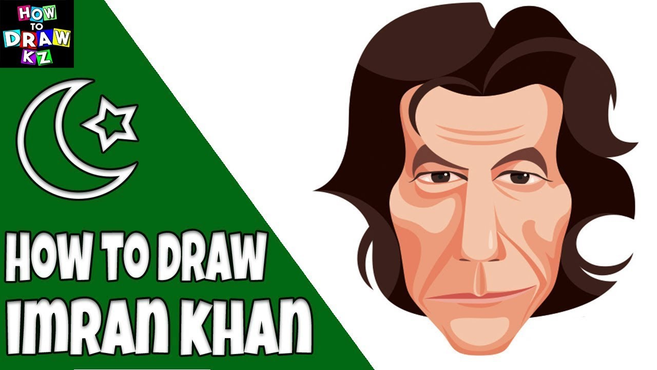 Imran khan clipart picture black and white How To Draw Imran Khan Painting - Timelapse Video (2018) picture black and white