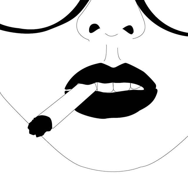 I-mwithhervector clipart image black and white library smokin\' #woman #smoking #cigarette #lips #imwithher #women ... image black and white library