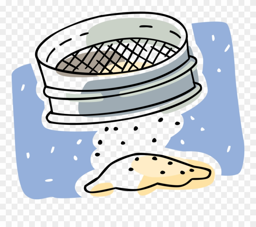 In a sieve clipart clip black and white library Vector Illustration Of Sieve Or Sifter Sifting Baking Clipart ... clip black and white library