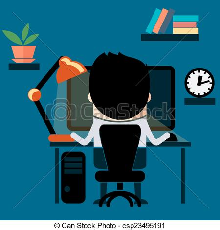 In front of computer clipart banner library download Man sitting in front of computer clipart - ClipartFest banner library download