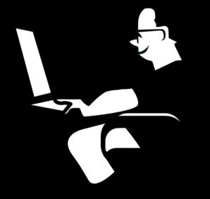 In front of computer clipart clip art transparent Man sitting in front of computer clipart - ClipartFest clip art transparent