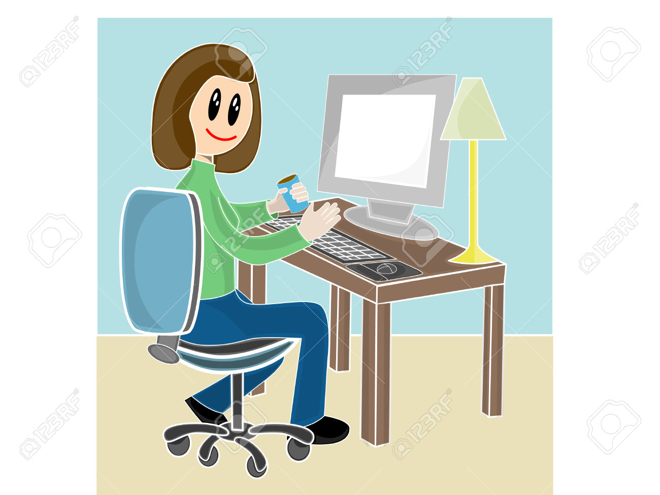 In front of computer clipart banner transparent download Sitting in front of computer clipart - ClipartFest banner transparent download