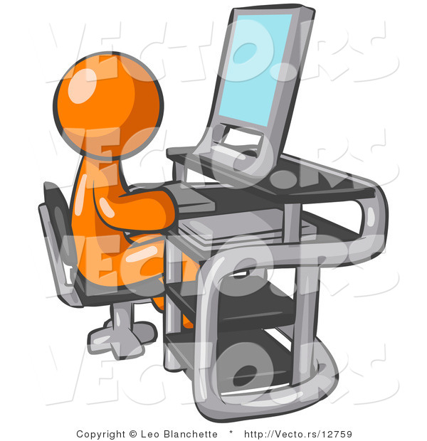 In front of computer clipart png transparent Man sitting in front of computer clipart - ClipartFox png transparent