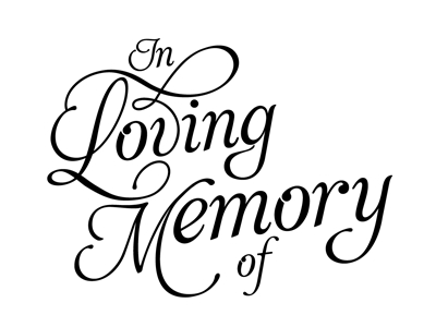 In memory of clipart