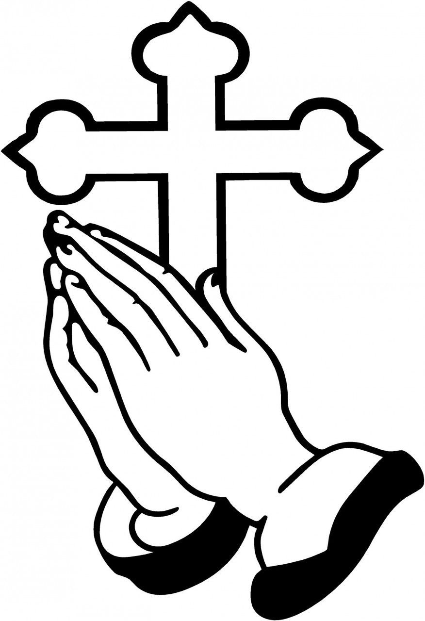 In memory of dad praying hands clipart picture transparent library Praying Hands and Cross … | crafts | Praying hands, Praying hands ... picture transparent library