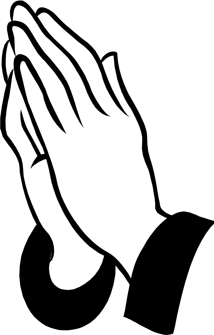 In memory of dad praying hands clipart banner black and white stock Pray Clipart Prayer Request - Praying Hands Pillow Case - Png ... banner black and white stock