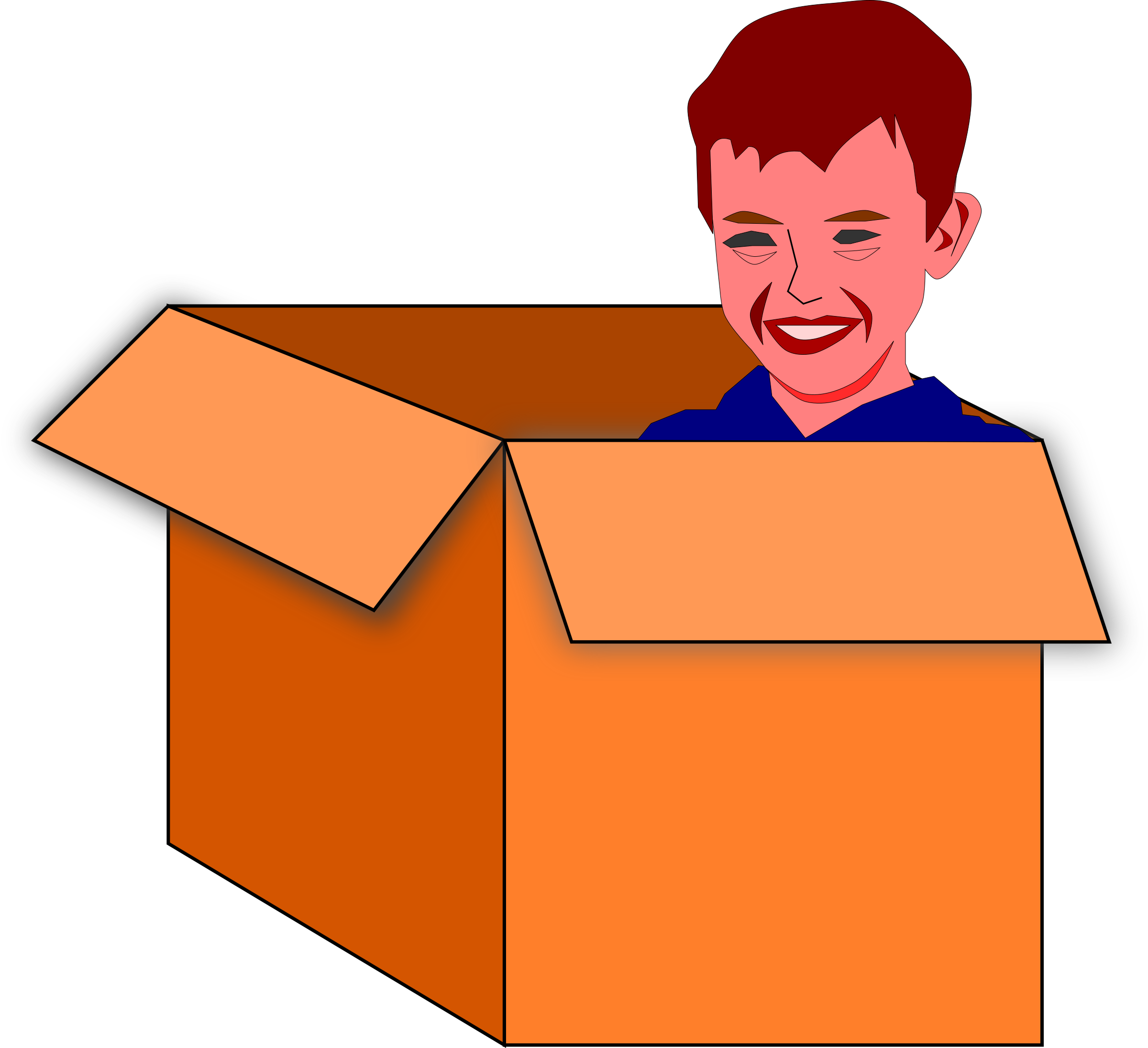 Box vector clipart svg black and white library Child in a box vector clipart image - Free stock photo - Public ... svg black and white library