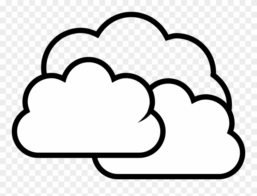 In the sky clipart black and white picture royalty free In The Sky Clipart Black And White - Cloudy Black And White - Png ... picture royalty free