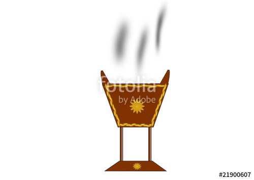 Incense burner clipart vector freeuse Arab Traditional Incense Burner\