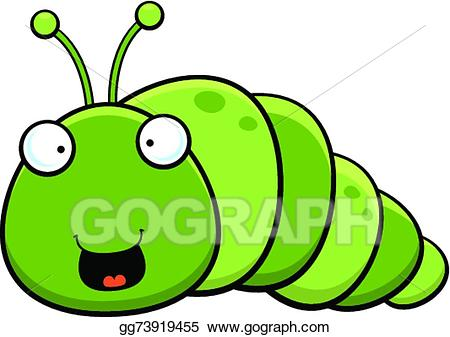 Inch worm clipart banner free Vector Art - Cartoon inch worm happy. Clipart Drawing ... banner free