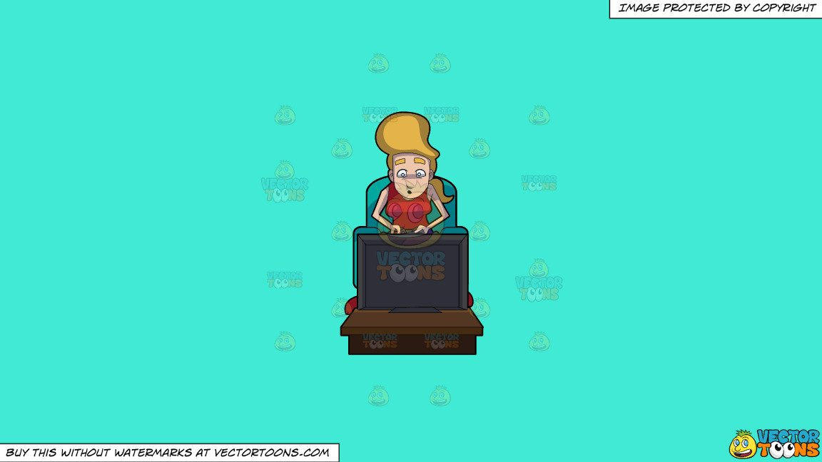 Incredulous clipart clip Clipart: A Woman Looking Incredulous While Playing A Video Game on a Solid  Turquiose 41Ead4 Background clip