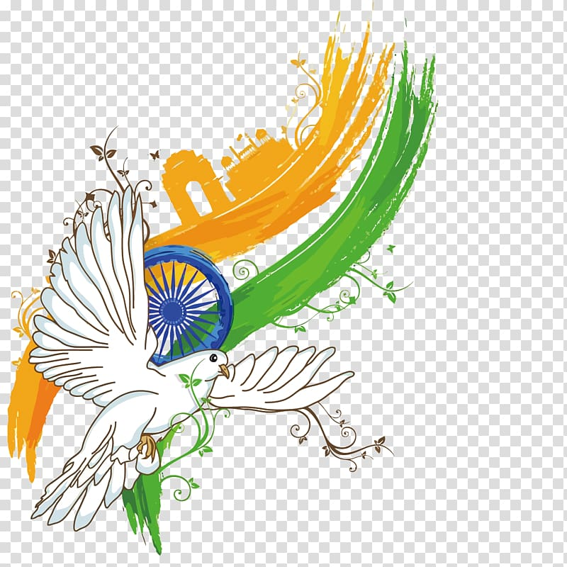 Independence day background clipart banner transparent library Indian Independence Day Poster Illustration, dove India ... banner transparent library