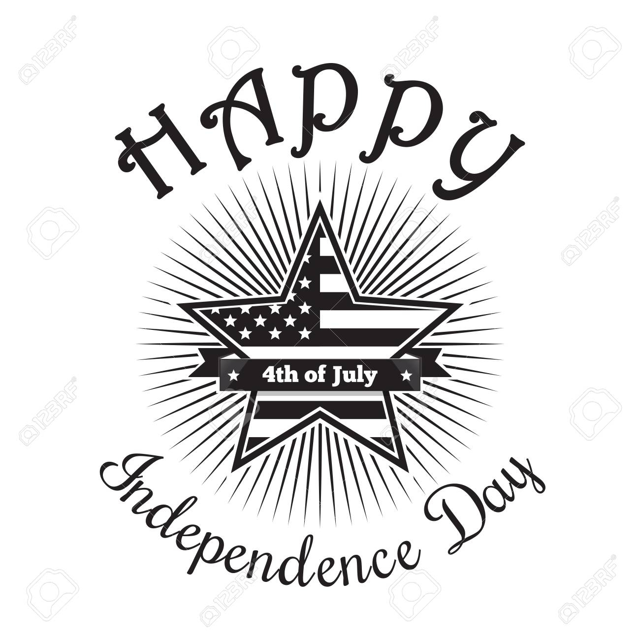 Independence day clipart black and white graphic black and white download Independence Day Clipart Black And White to you – Free ... graphic black and white download