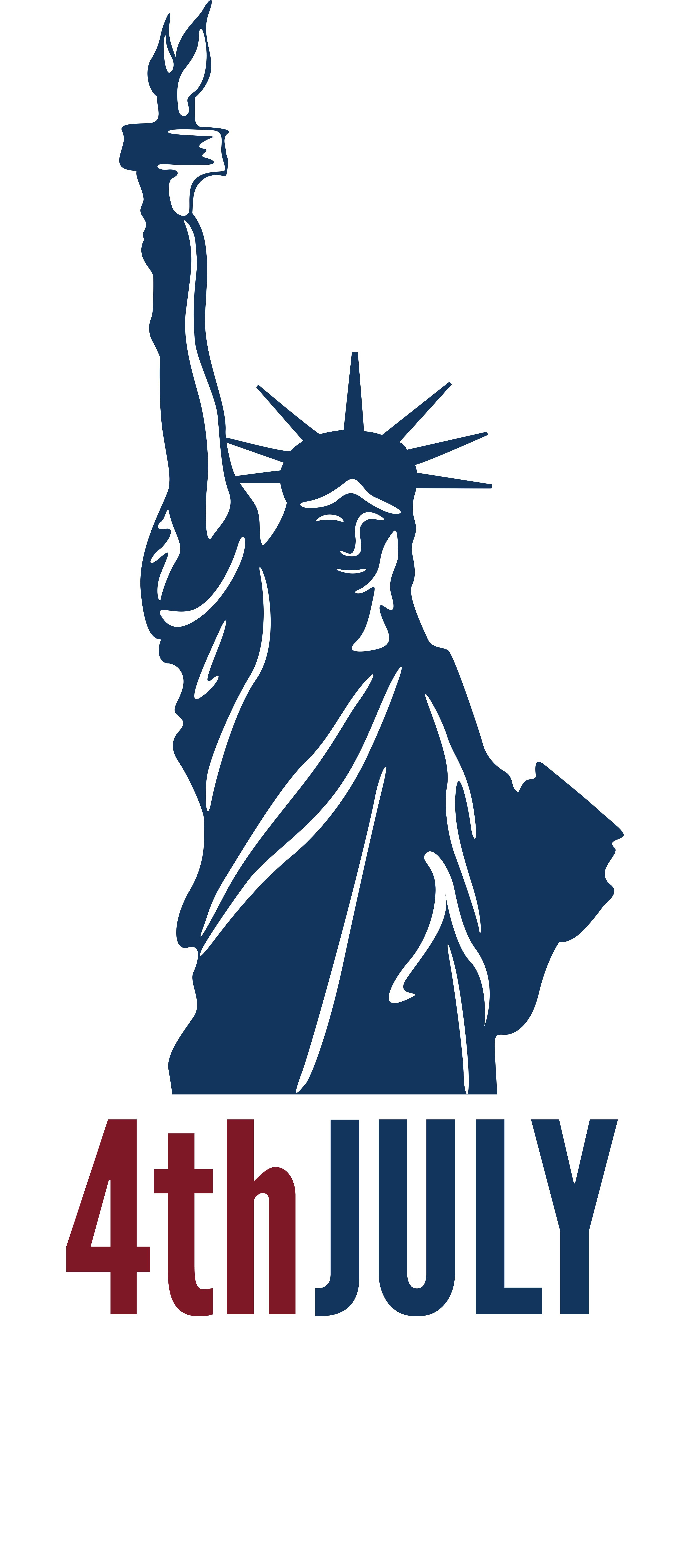 4th July Independence Day with Statue of Liberty PNG Clip Art Image ... banner library download