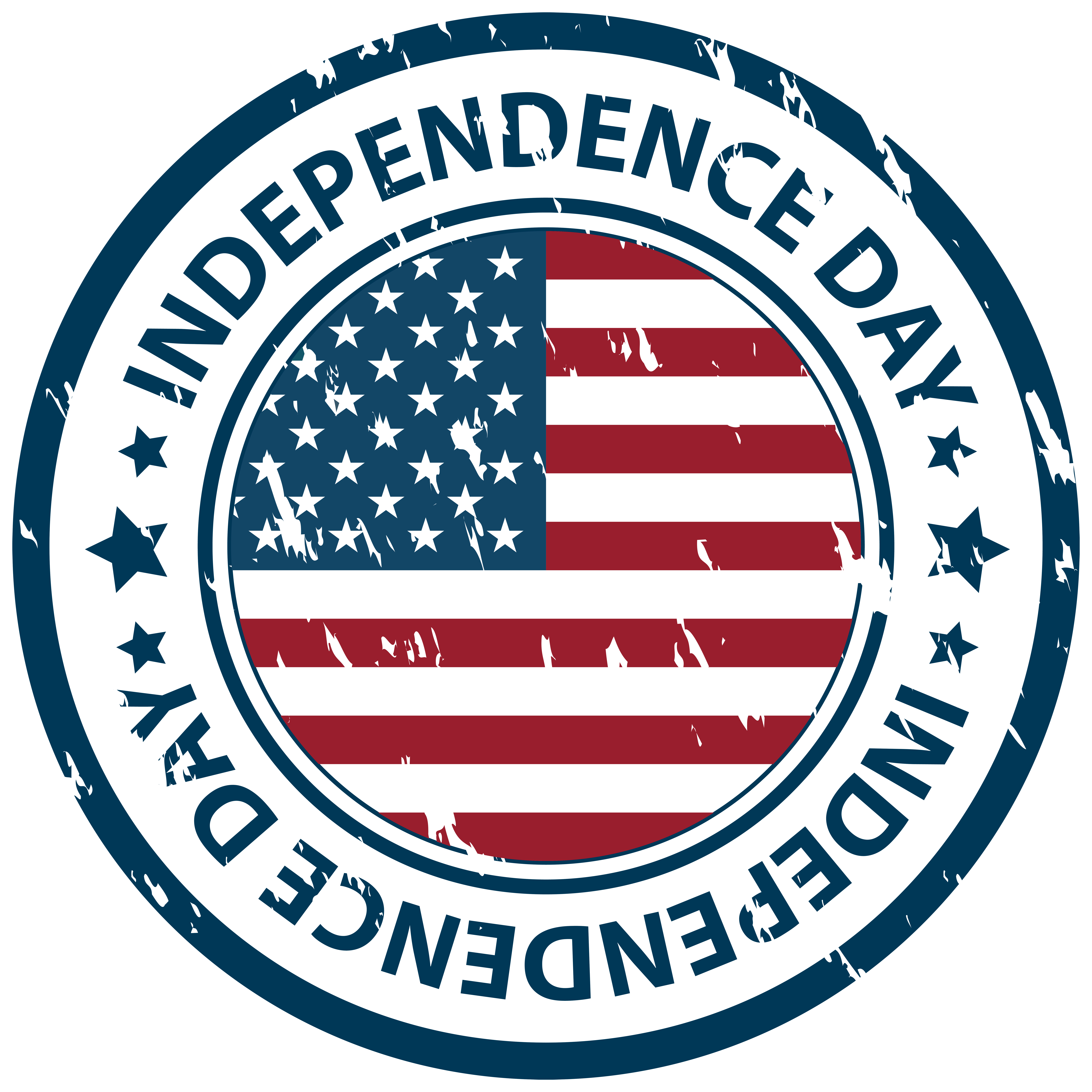 Independence Day Stamp PNG Clip Art Image | Gallery Yopriceville ... vector transparent
