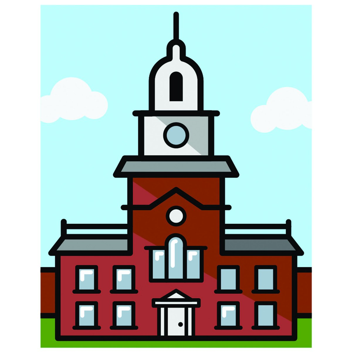 Independence hall clipart vector royalty free Visit Philly on Twitter: \