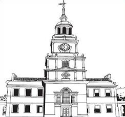 Independence hall clipart clip art stock Free Independence Hall Clipart clip art stock