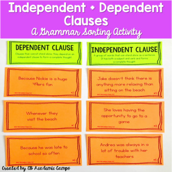 Independent clause clipart clip transparent Clauses Worksheets & Teaching Resources | Teachers Pay Teachers clip transparent