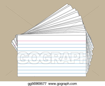 Index card cliparts clipart EPS Illustration - Stack of index cards. Vector Clipart ... clipart