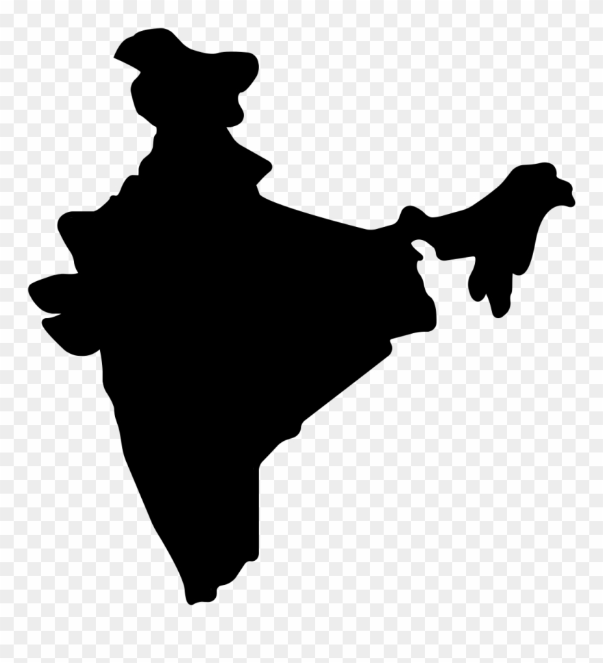 India map logo clipart picture free Language - India Map Vector Png Clipart (#824874) - PinClipart picture free