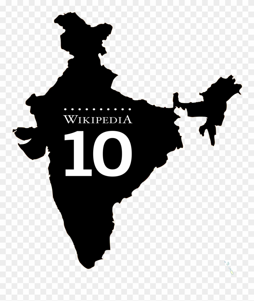 India map logo clipart vector black and white stock Clipart Library Library Country Svg Silhouette - India Map ... vector black and white stock