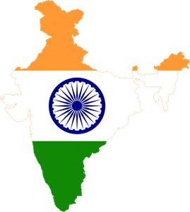 India map logo clipart banner transparent stock Flag map of India Logo Vector (.EPS) Free Download banner transparent stock