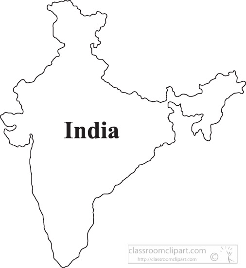India map logo clipart graphic freeuse download Country Maps Clipart Photo Image - India-outline-map-clipart ... graphic freeuse download