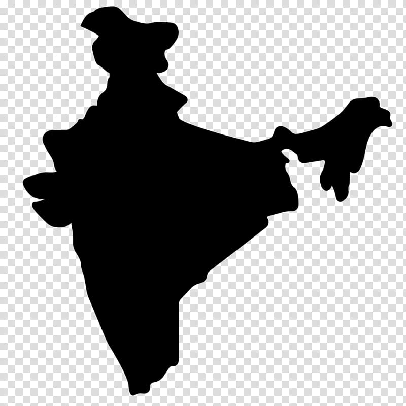 India map with cities clipart black and white clip art black and white stock India Map , India transparent background PNG clipart | HiClipart clip art black and white stock