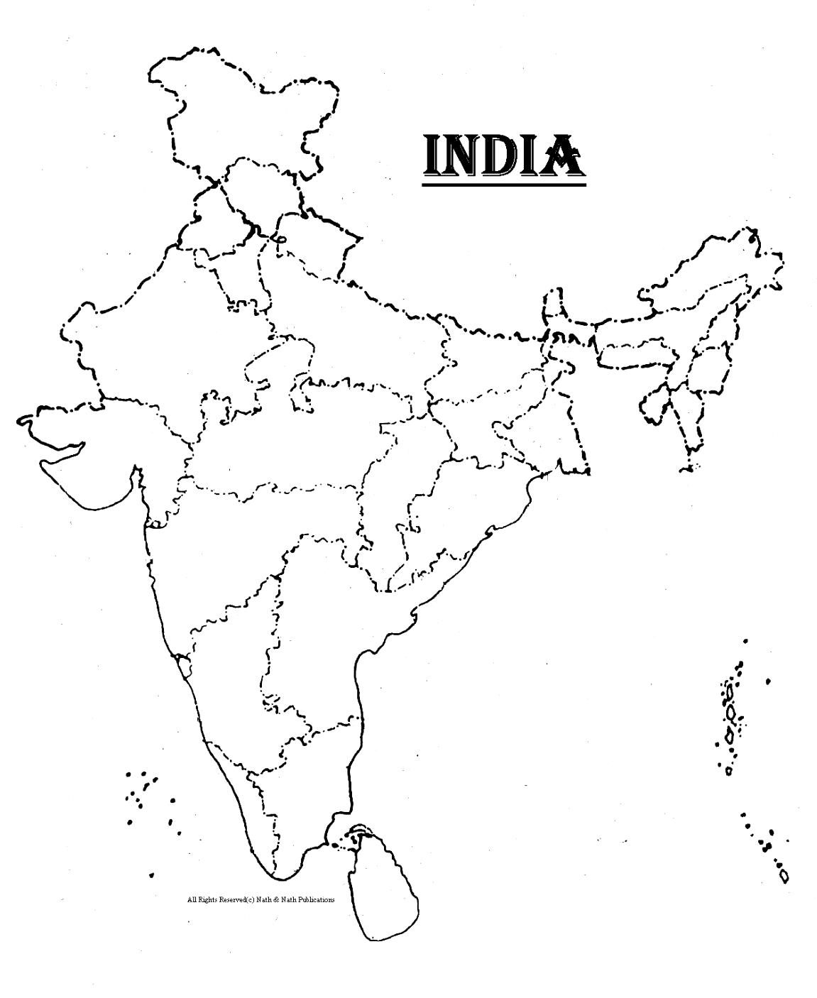 India map with cities clipart black and white clip art download Pin by Christine Srivastava on Homeschool | India map, China ... clip art download