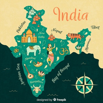 India map with cities clipart black and white clip art library India Map Vectors, Photos and PSD files | Free Download clip art library
