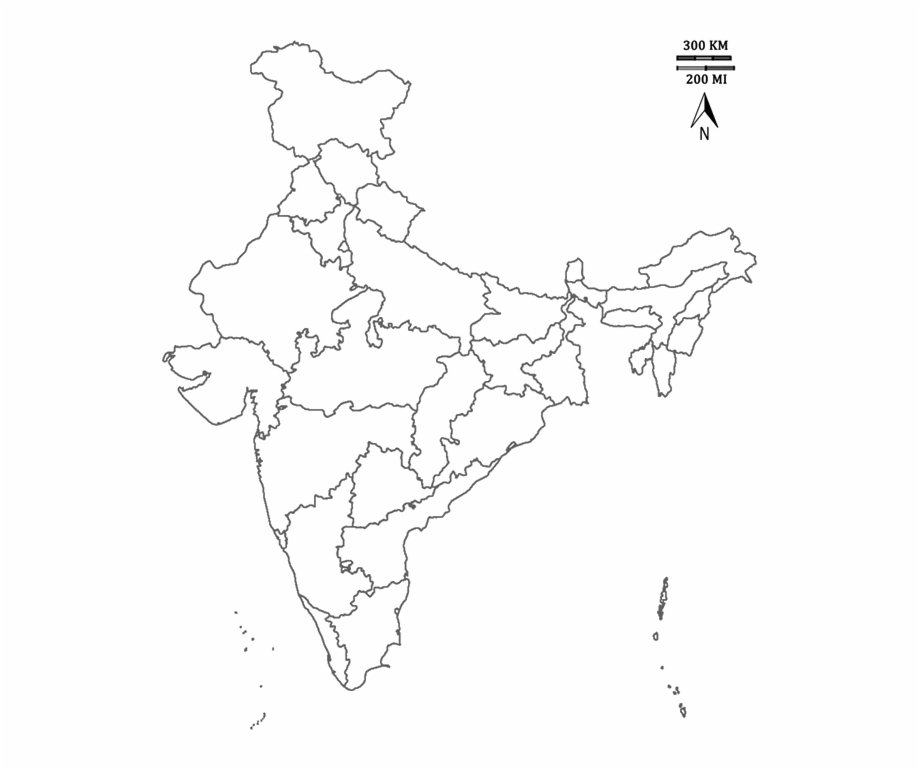 India map with cities clipart black and white clip black and white Image Of India Map - Plain Rivers Of India Map Free PNG ... clip black and white