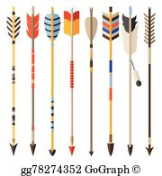 Indian arrow clipart image library download Indian Arrow Clip Art - Royalty Free - GoGraph image library download