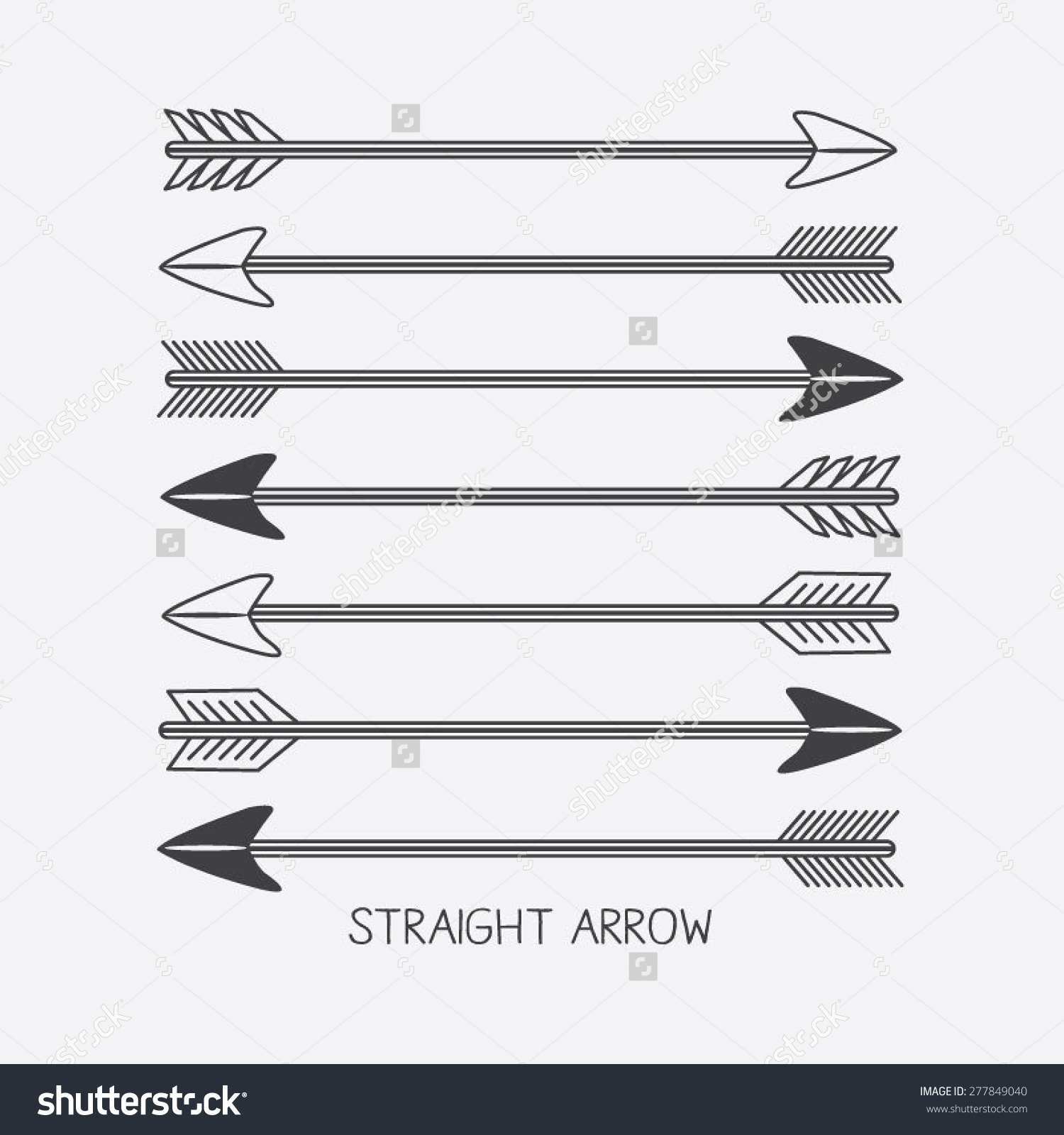 Indian arrow clipart images jpg black and white download Set Arrows Indian Illustration Tshirt Graphics Stock Vector ... jpg black and white download