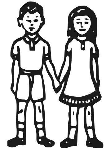 Indian boy and girl clipart banner free library File:Indian Election Symbol Boy and Girl.svg - Wikimedia Commons banner free library