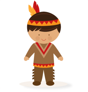 Indian boy clipart clip black and white library Thanksgiving Boy Native American SVG scrapbook cut file cute ... clip black and white library