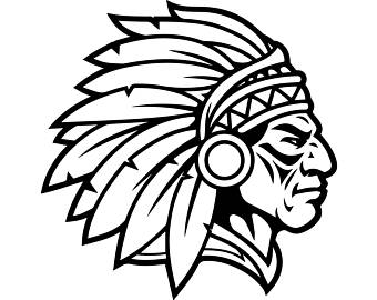 Indian chief head clipart image black and white download Indian Head Clipart Group with 52+ items image black and white download