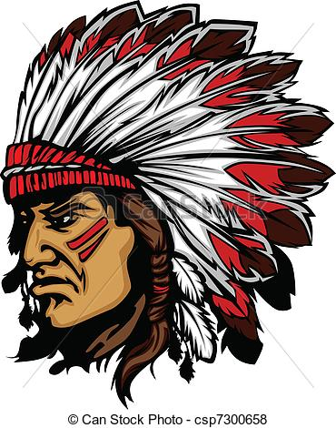 Indian chief head clipart graphic free download Indian Chief Mascot Head | Clipart Panda - Free Clipart Images graphic free download