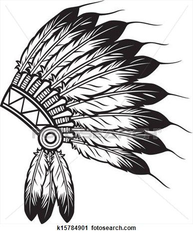 Indian chief pictures clipart graphic free download Indian chief headdress Clipart | Clipart and Coloring Sheets ... graphic free download