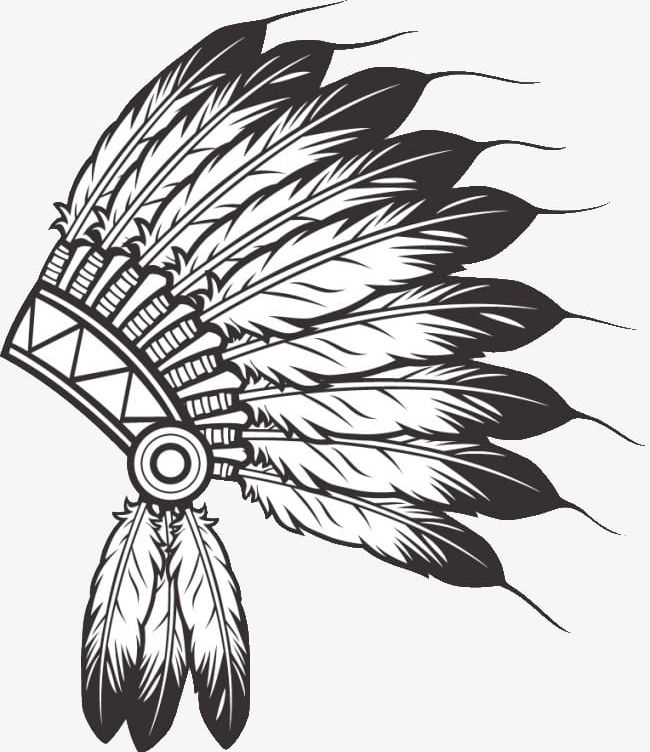 Indian feather clipart black and white banner royalty free download Indian Feather Hat PNG, Clipart, Black And White, Black Color ... banner royalty free download