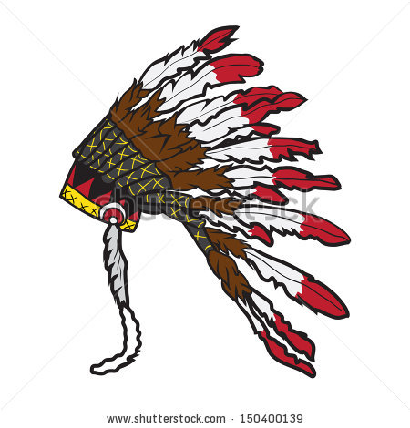 Indian clipart with colorful feathers on hat black and white library Collection of Headdress clipart | Free download best Headdress ... black and white library