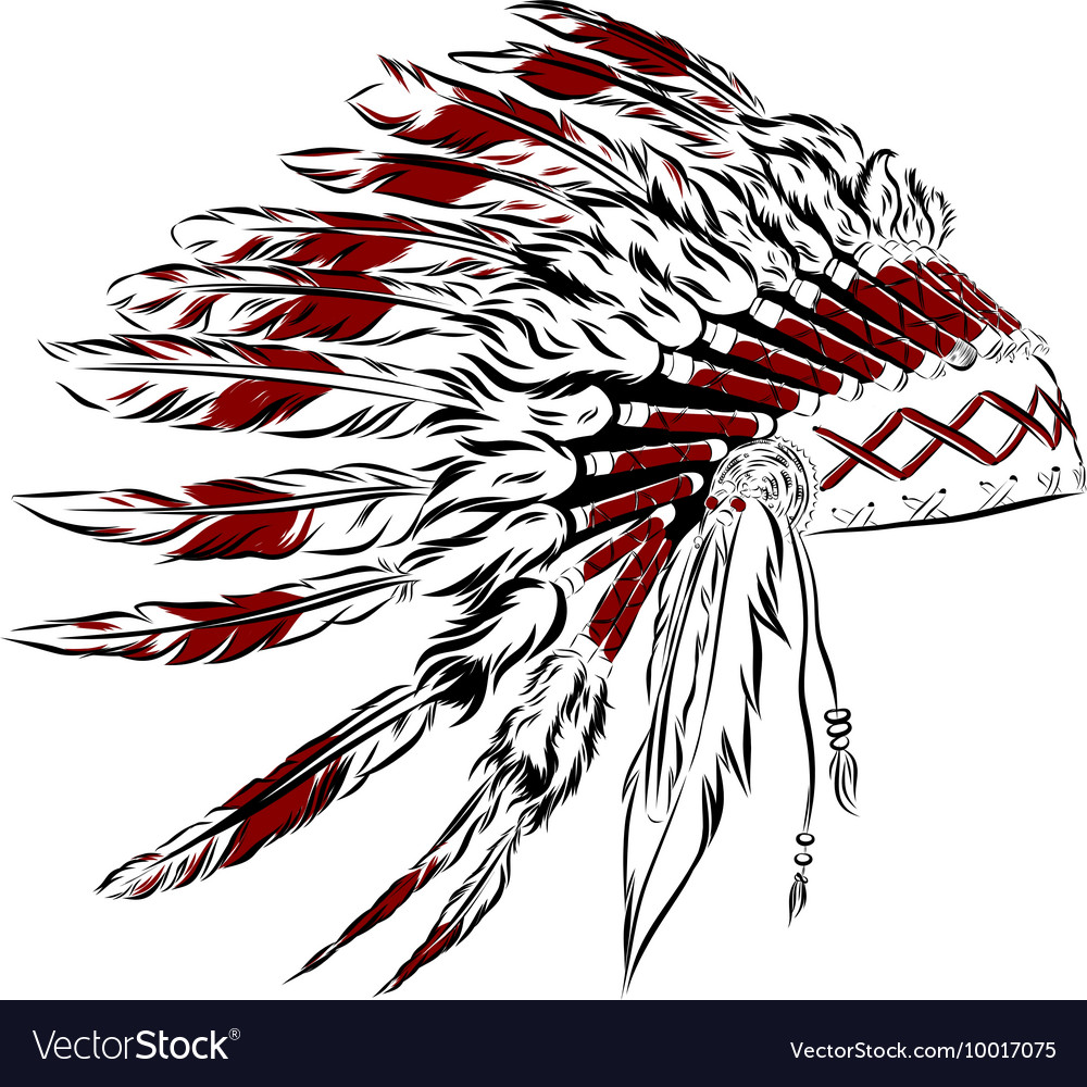 Indian clipart with colorful feathers on hat clip free download Native American Feather Drawing at PaintingValley.com | Explore ... clip free download