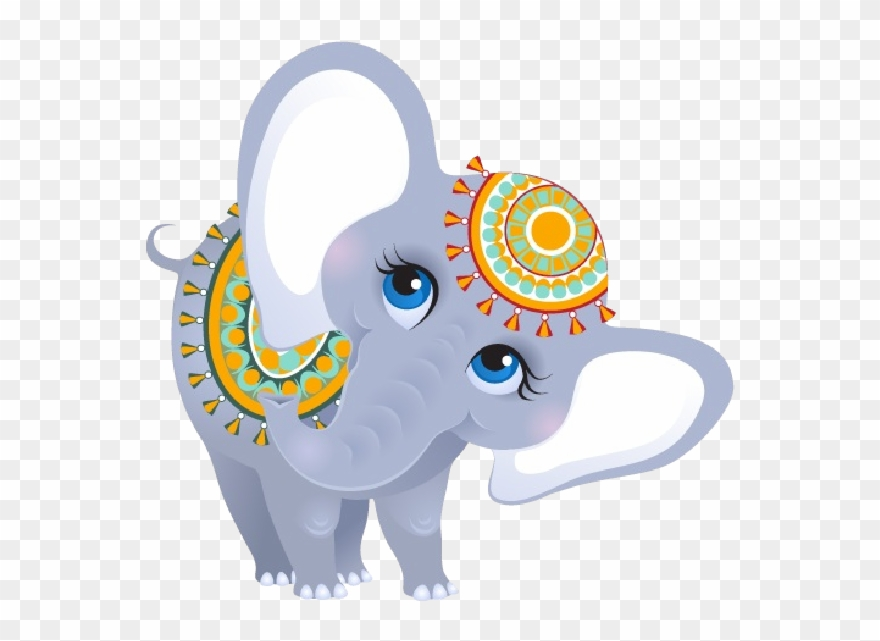 Indian elephant clipart vector black and white stock Funny Female Circus Elephant Elephants Pinterest Clip - Indian Baby ... vector black and white stock
