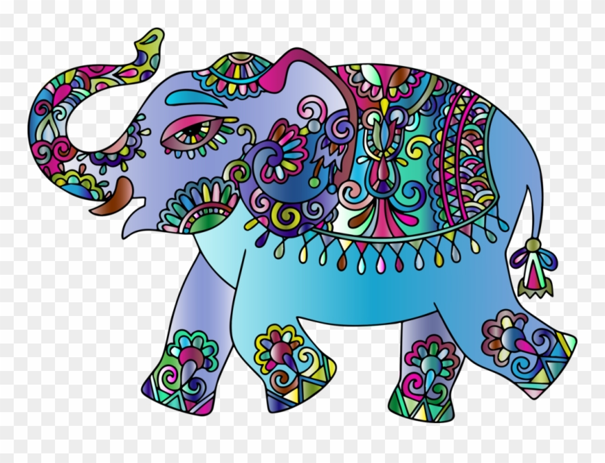 Indian elephant clipart svg library library Indian Elephant Ganesha Elephants Visual Arts Vertebrate - Ganesha ... svg library library