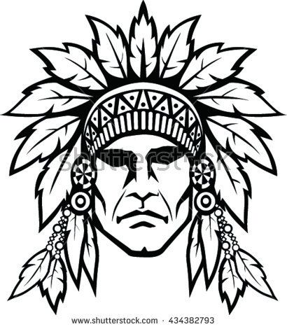 Indian face clipart image library Collection of Native american clipart | Free download best Native ... image library
