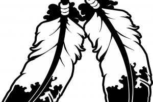 Indian feather clipart black and white image library download Ivy clipart black and white » Clipart Station image library download