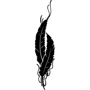 Indian feather clipart black and white clip art transparent Native Indian Feathers Clipart | Free Images at Clker.com - vector ... clip art transparent