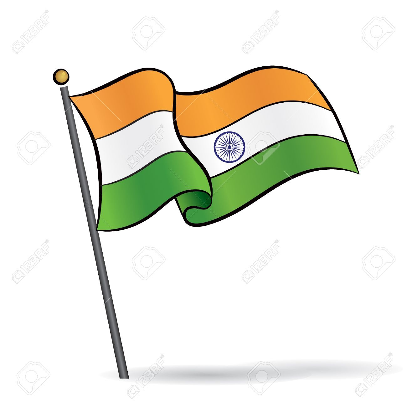 Indian flag clipart pic clip art black and white download Indian flag clipart images 2 » Clipart Portal clip art black and white download
